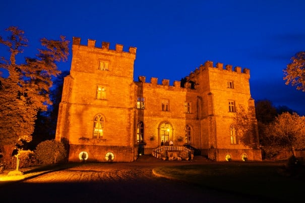Dusk at Clearwell Castle