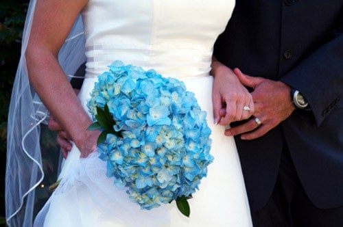 Clearwell Castle - Blue Bridal Bouquet