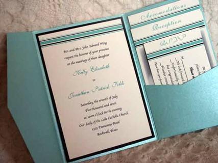 folded invitations