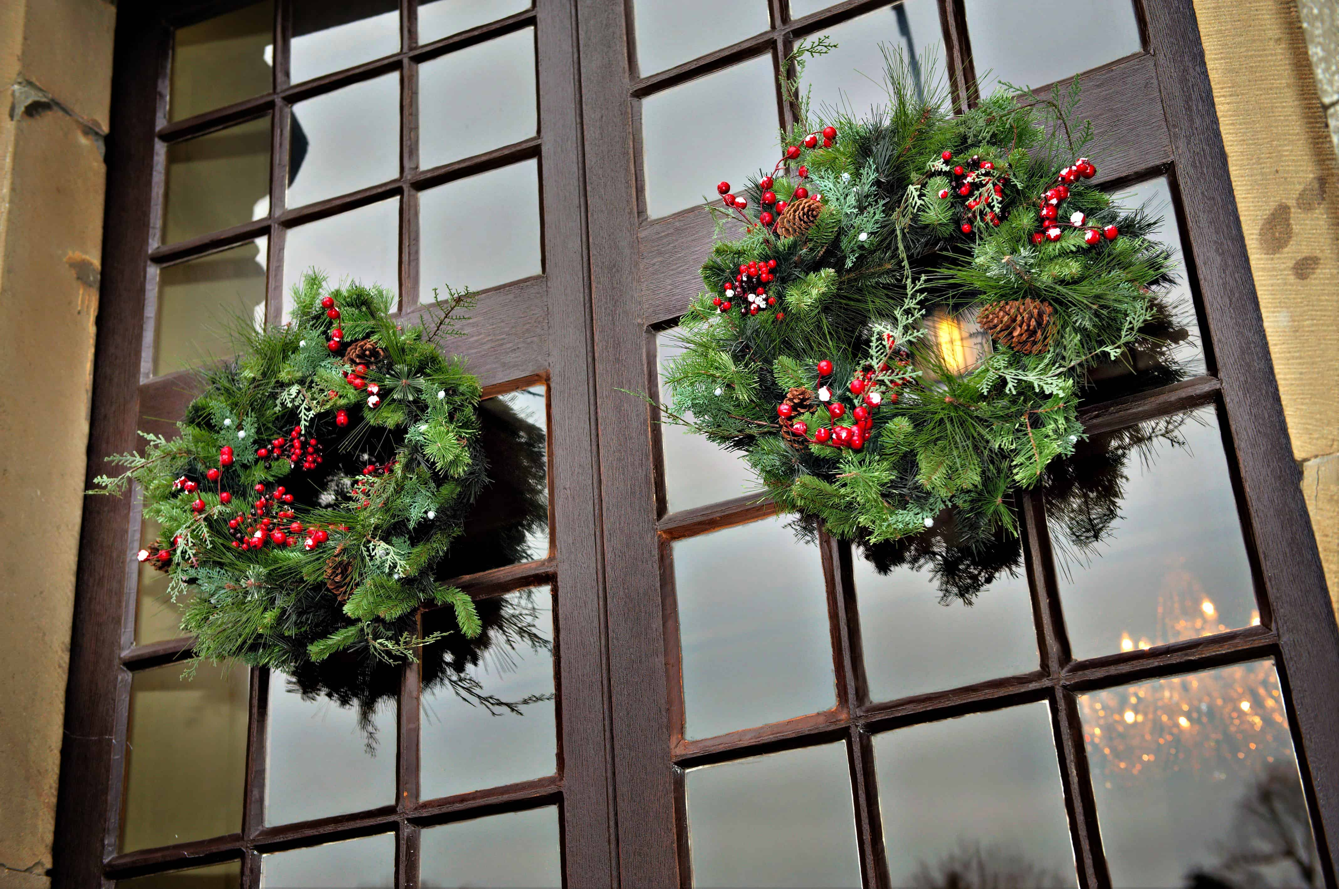 Clearwell- Xmas holly wreaths- Winter