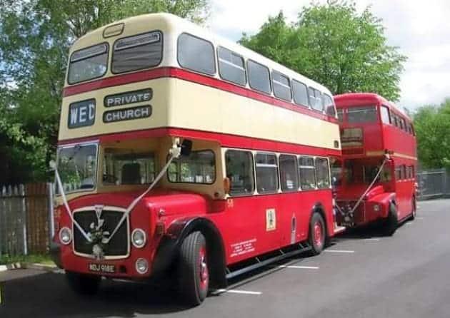 Clearwell Castle - Wedding Bus
