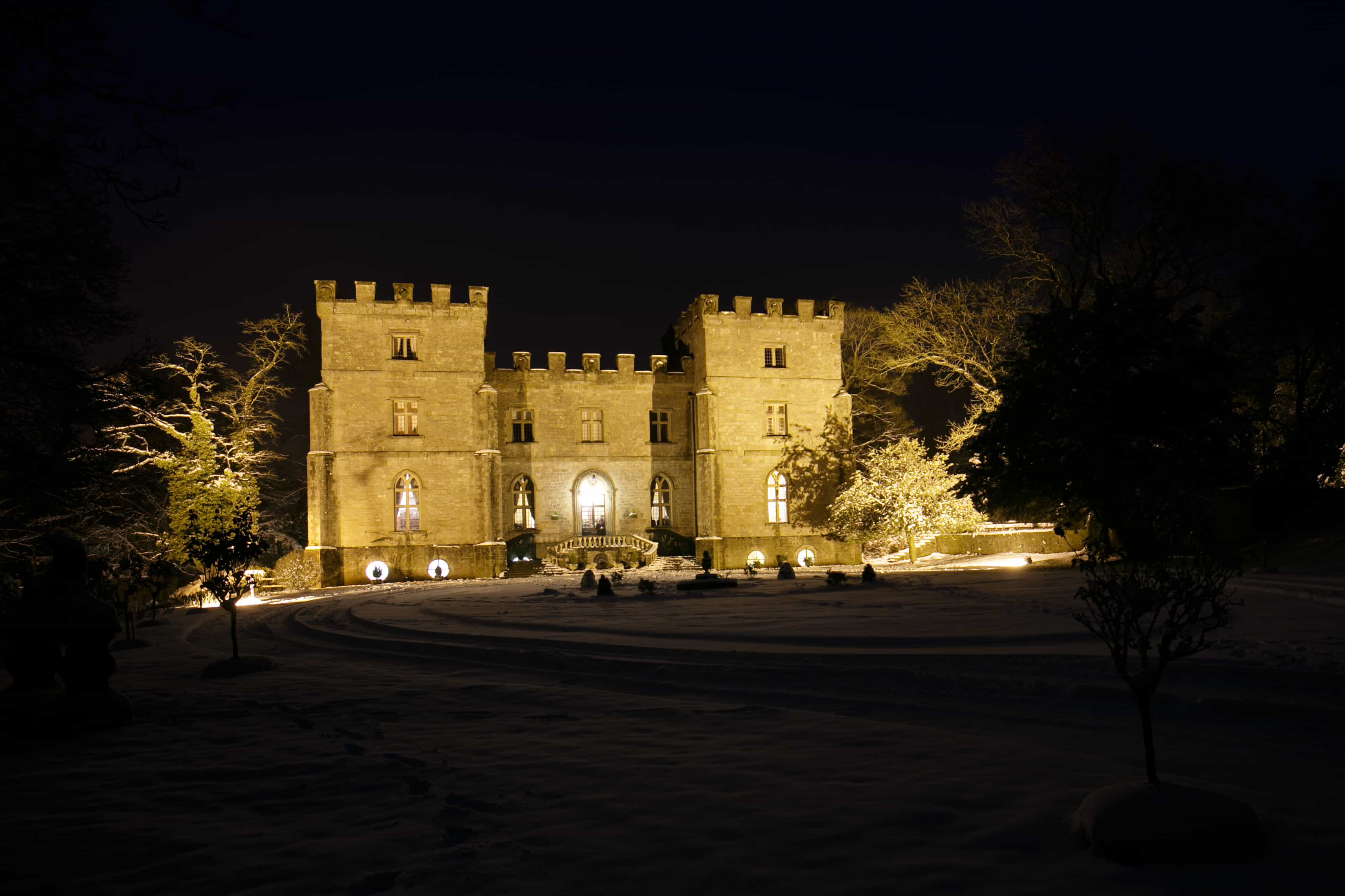 Clearwell- castle at night