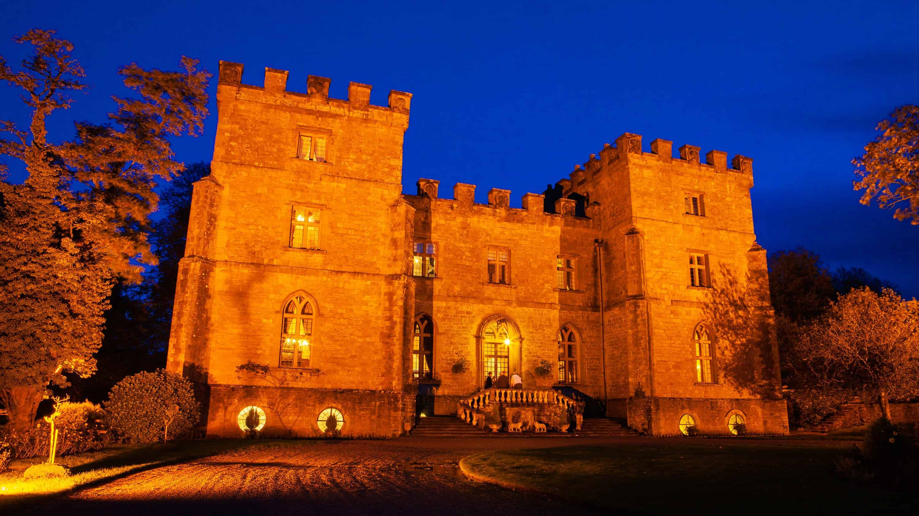 Clearwell Castle at Night