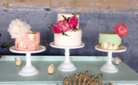 3 wedding cakes in a row