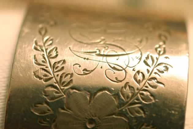Antique silver engraving