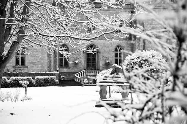 Snow at Clearwell Castle
