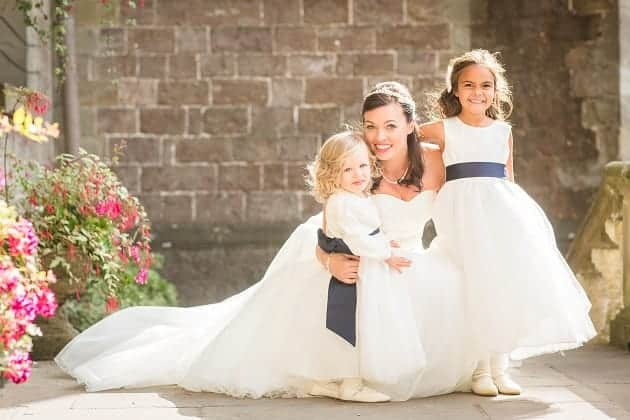 Bride and bridesmaids at clearwell