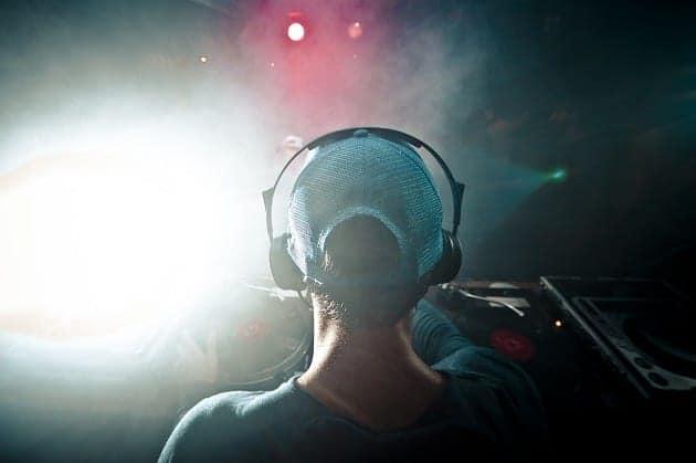 A DJ at work