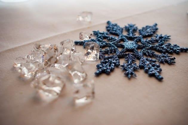 An ornamental snowflake