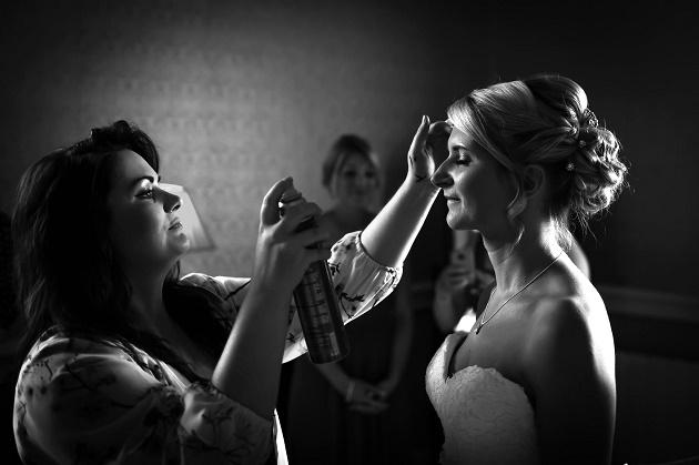 Bride beauty preperation