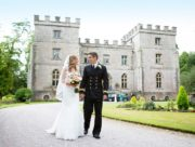 Couple outside Clearwell Castle